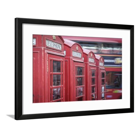 Frame Box Set (Red phone boxes, London, England, UK Framed Print Wall Art By Jon Arnold)