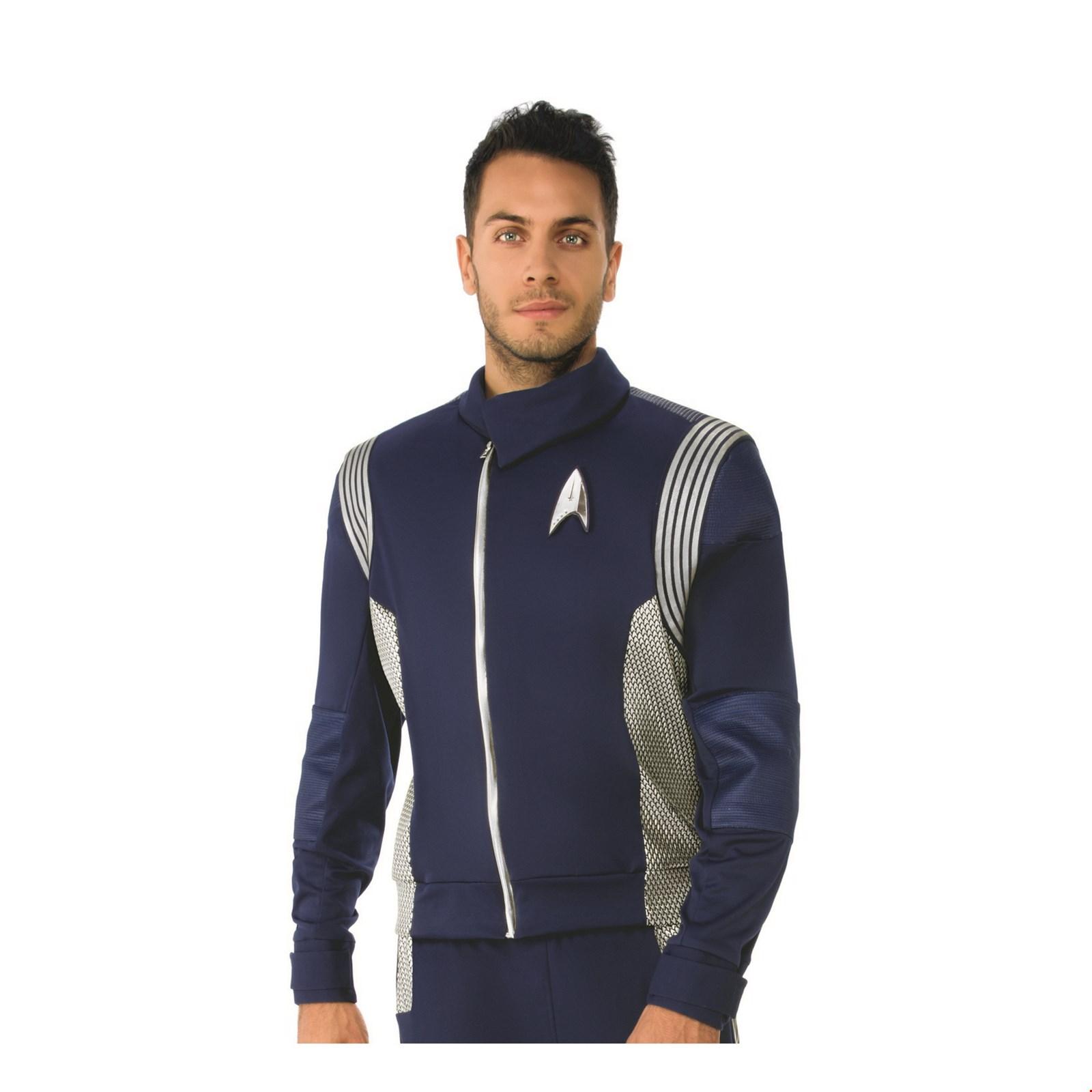 Halloween Costume Accessory Star Trek Discovery Mens Silver Science Uniform