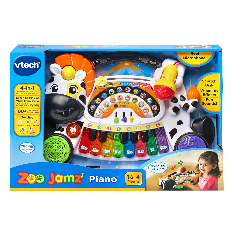 VTech Zoo Jamz Piano Zebra 4-in-1 Instrument With Microphone