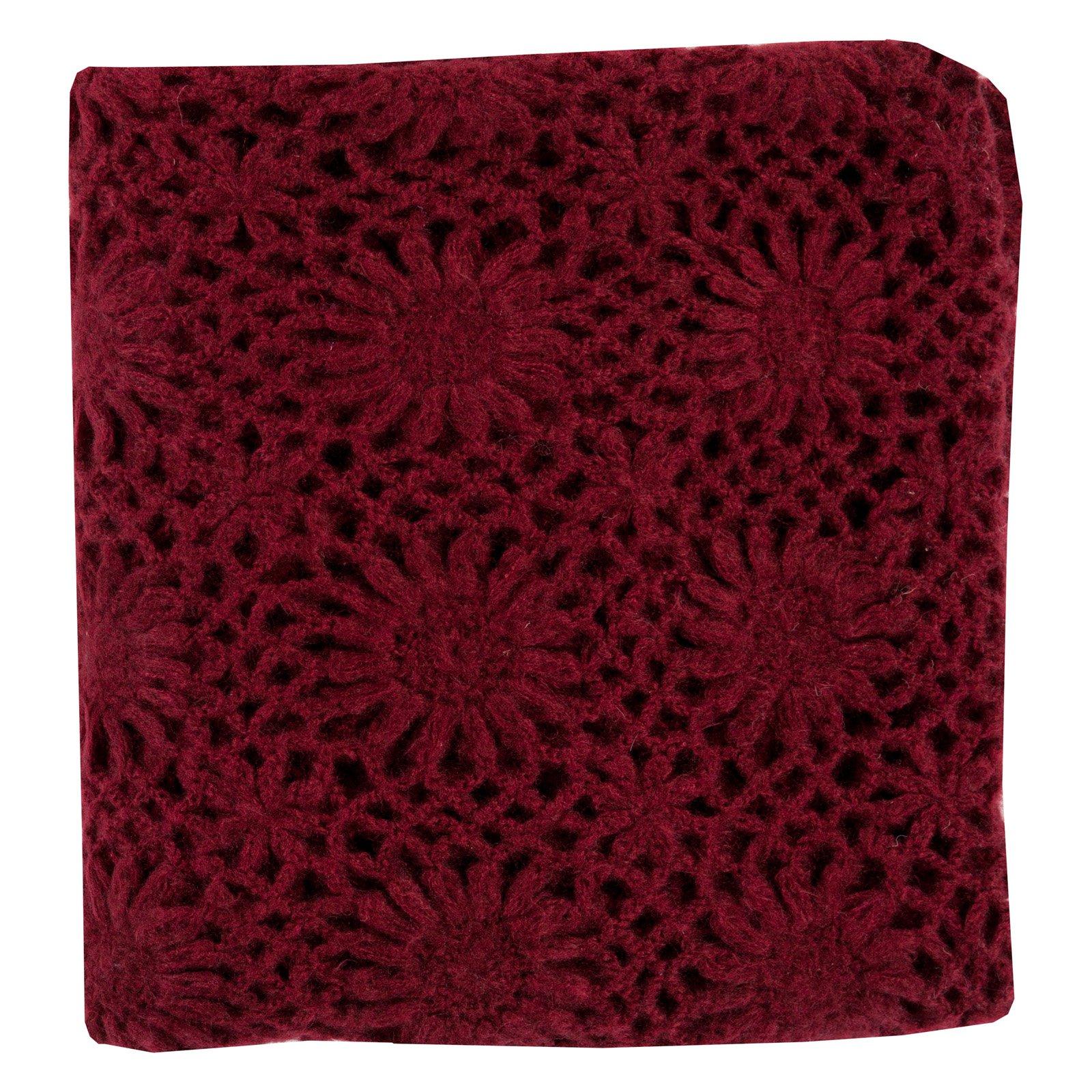 Surya Teresa Crochet Throw - 50L x 60W in.