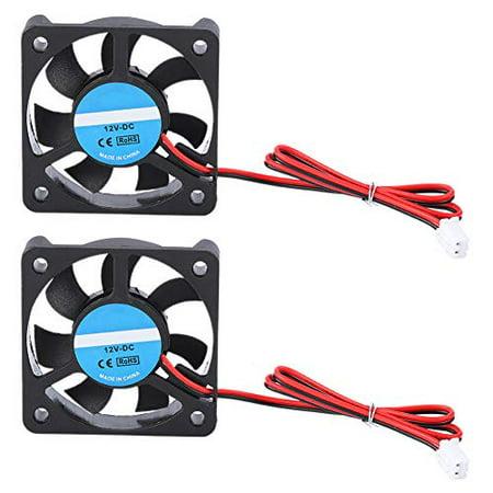 2Pcs Cooling Fan for 3D Printer, fosa 50x50x10mm DC 12V 2 Pin Cooling Blower Brushless Mini Fan for 3D Printer, Low - image 1 de 5