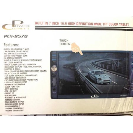 7″ 2 DIN HD DIGITAL WIDE TFT LCD USB SD REAR VIEW CAM REMOTE MULTIMEDIA PLAYER