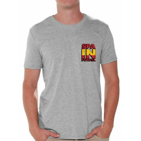 - Awkward Styles Spain Futbol Shirt for Men Spanish Soccer Tshirt Spain Shirts for Men Spain 2018 Tshirt Spanish Soccer 2018 Spain Gifts for Men Gifts from Spain Spanish Flag Tshirt