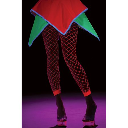 Neon Pink Adult Leggings (Neon Fishnet Leggings)