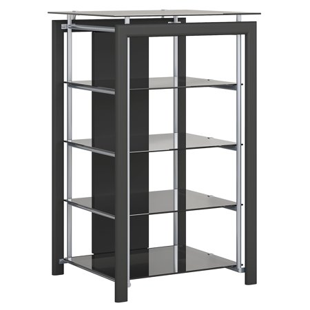 Media Technologies Furniture (Bush Furniture Midnight Mist Media Stand in Black)