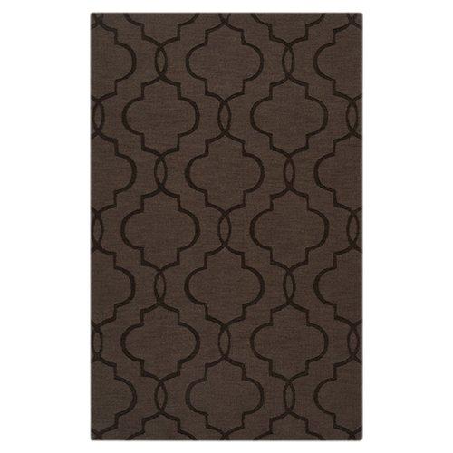 Wrought Studio Vasques Dark Brown Area Rug by