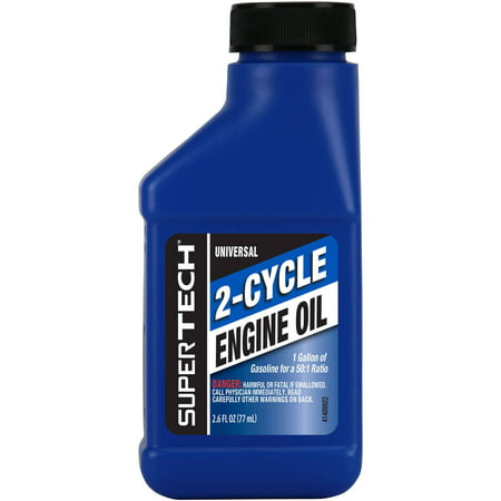 (4 Pack) Super Tech Universal 2-Cycle Engine Oil, 2.6 oz