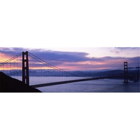 Panoramic Images PPI118903L Silhouette of a suspension bridge at dusk  Golden Gate Bridge  San Francisco  California  USA Poster Print by Panoramic Images - 36 x 12 - image 1 of 1
