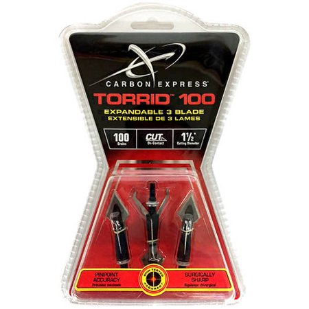 Carbon Express Torrid 100 Broadhead, Expandable, Pack of (Accurate Broadheads)
