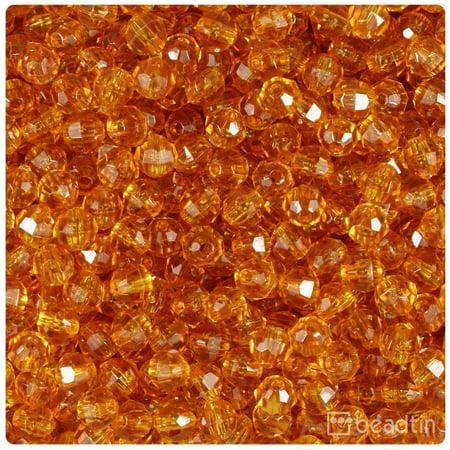 BeadTin Topaz Transparent 6mm Faceted Round Craft Beads (750pcs)
