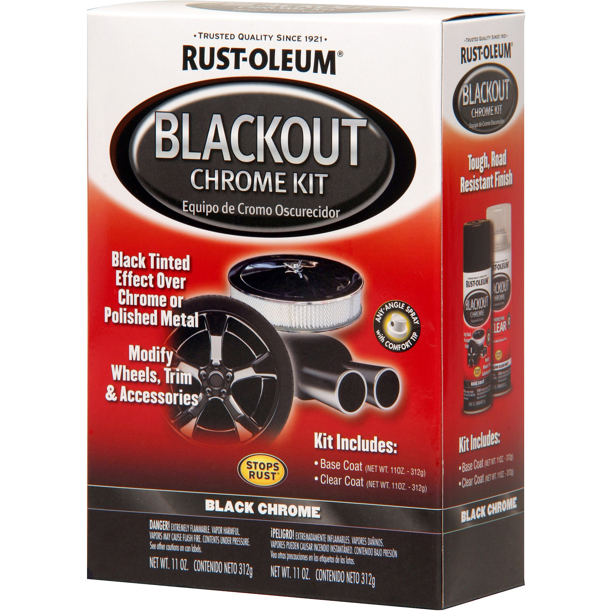 Rust Oleum Blackout Chrome Kit Walmart