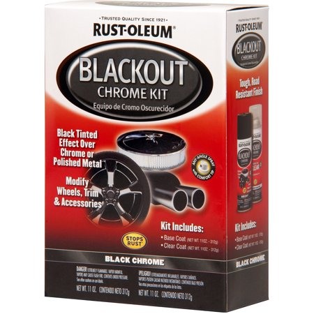 rust oleum blackout chrome kit. Black Bedroom Furniture Sets. Home Design Ideas