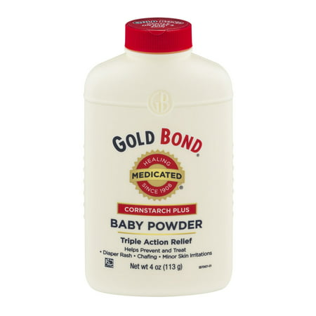 (2 Pack) Gold Bond Cornstarch Plus Medicated Triple Action Relief Baby Powder, 4 oz - Baby Powder On Face Halloween