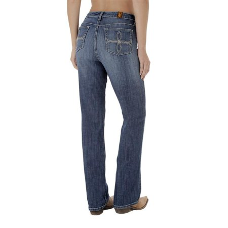 c14bf3dc0ac98 Wrangler Womens Aura Medium Wash Boot Cut Jeans - Walmart.com