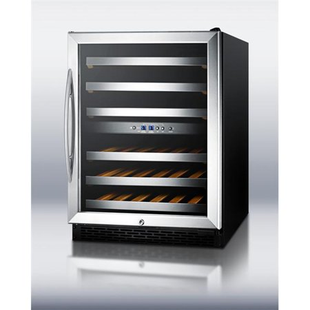 Summit Appliances  SWC530BLBIST Dual zone built-in wine cellar with digital thermostat and black cabinet - Black (Summit Wine Fridge)