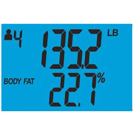 Health o meter Stainless Steel Body Fat Bath Scale with Daily Caloric Intake Technology, BFM144
