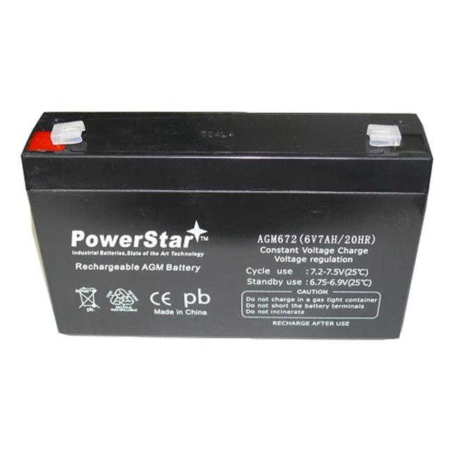 PowerStar AGM672-02 6V 7Ah Replacement for MK ES7-6 Wheelchair Battery