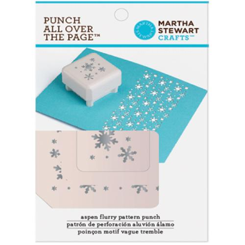 Martha Stewart Punch All Over The Page Pattern Punch-Aspen Flurry