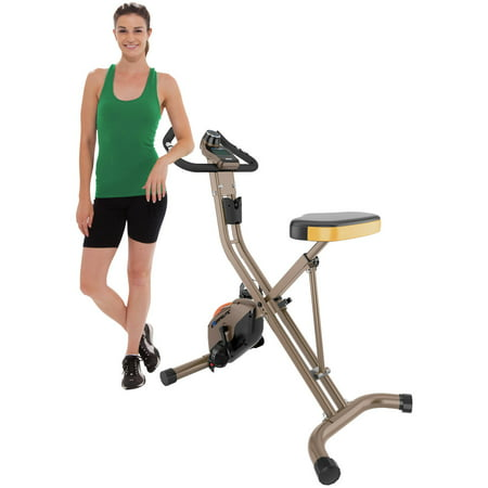EXERPEUTIC GOLD 500 XLS 400lb Weight Capacity Folding Upright Exercise