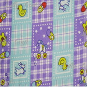 Flannel Baby Toys Lavender Teal Plaid Checkerboards 45 Inch Fabric by the Yard