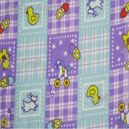 Flannel Baby Toys Lavender Teal Plaid Checkerboards 45 Inch Fabric by the (Teal Plaid Flannel)