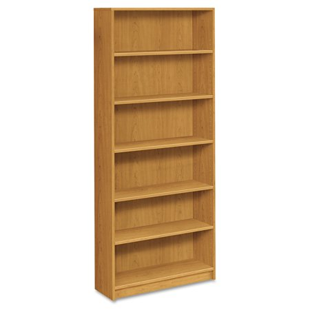 HON 1870 Series Bookcase, Six Shelf, 36w x 11 1/2d x 84h, Harvest