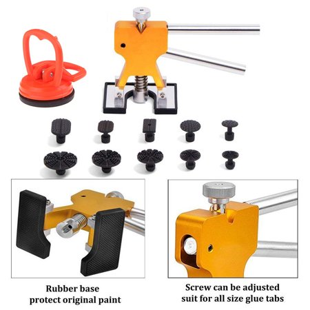 Glue Pulling Kit (Tools Paintless Dent Removal Remover Repair Puller Kits with Dent Lifter Pro Glue Pulling Tabs -Bonus Mini Suction)