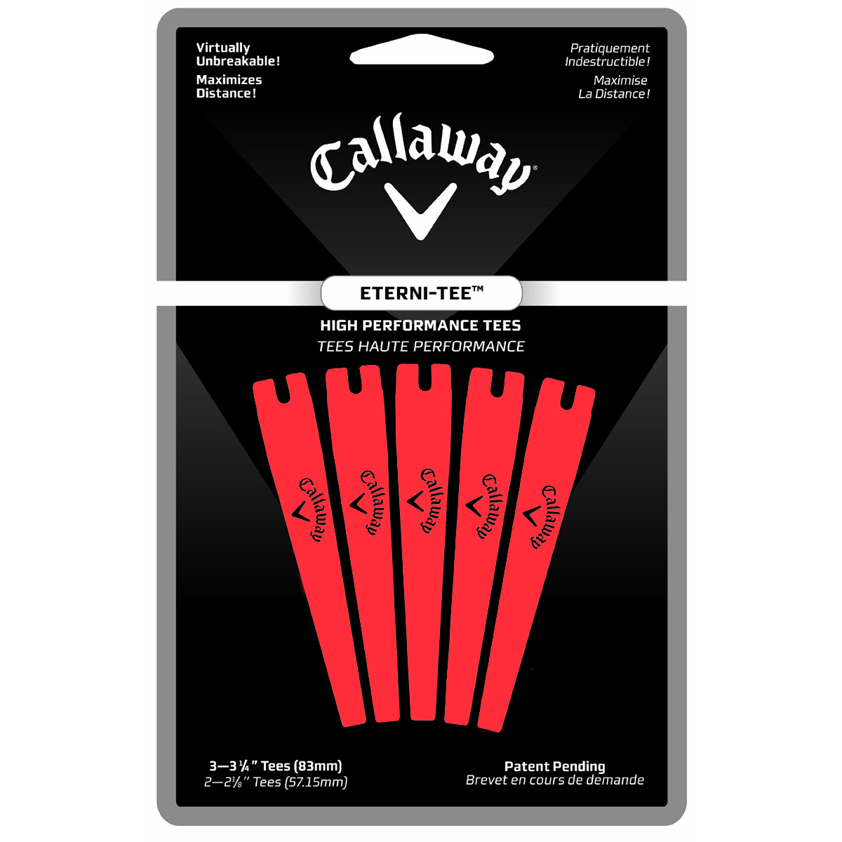 "Callaway Enterni-Tees Golf Tee - 5 Count (Large 3 1/4"") - Orange"