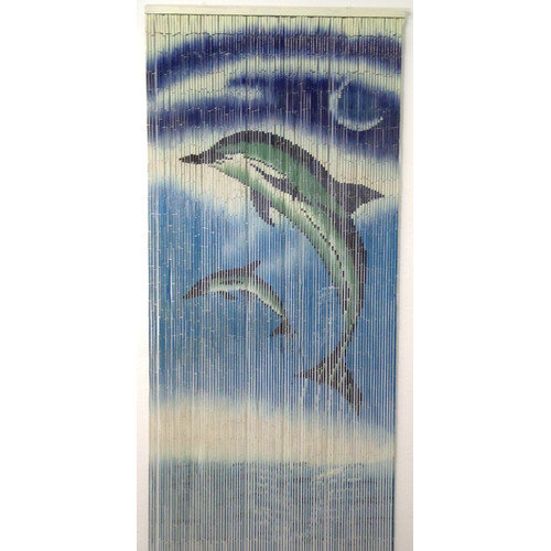 Bamboo54 Dolphins Design Single Curtain Panel