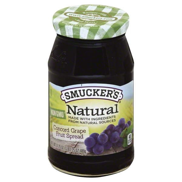 Smucker's Natural Concord Grape Fruit Spread, 12.75-Ounce Jar