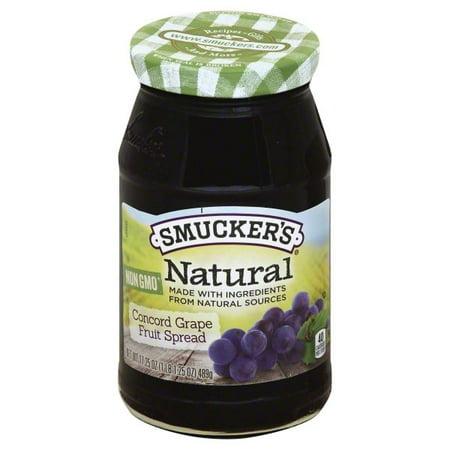 Smucker's Natural Concord Grape Fruit Spread, 12.75-Ounce (Mixed Fruit Jam)