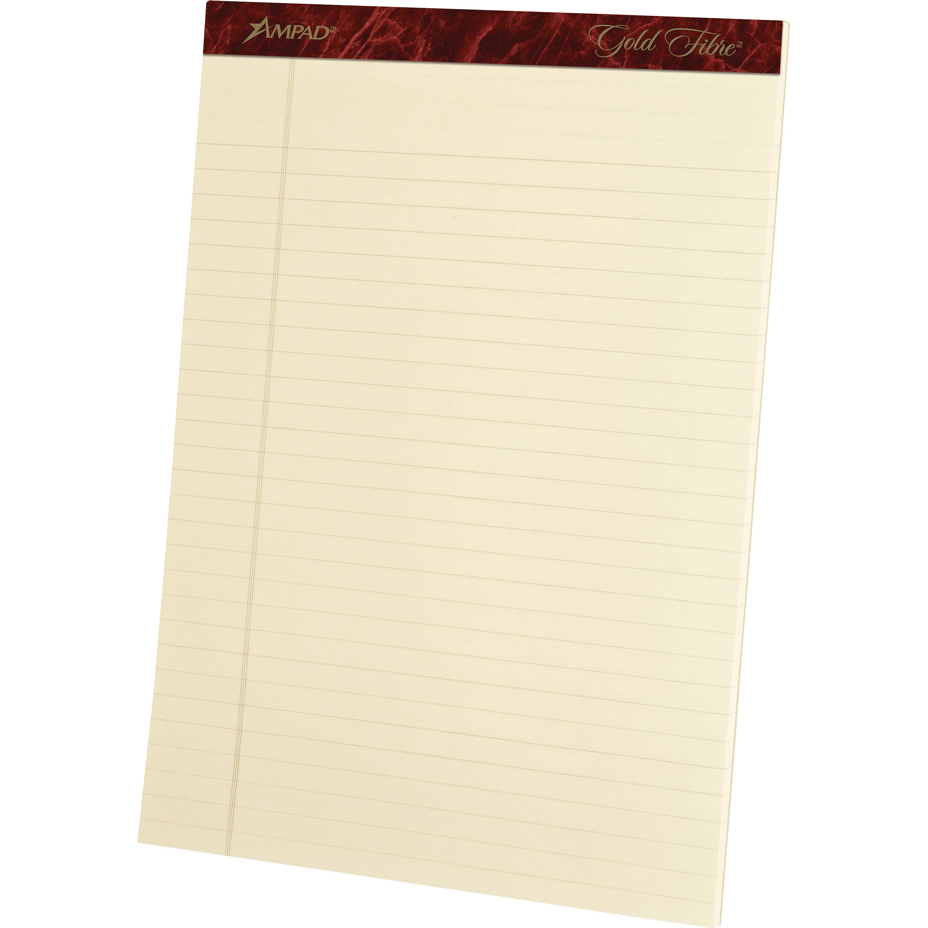 Ampad, TOP20011, Gold Fibre Legal Rule Retro Writing Pads, 4   Pack by TOPS Products