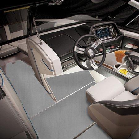 "47""x94""/240x120cm 6MM Grey Flooring Synthetic Teak Sheet EVA Foam Boat Yacht Decking - image 6 de 8"
