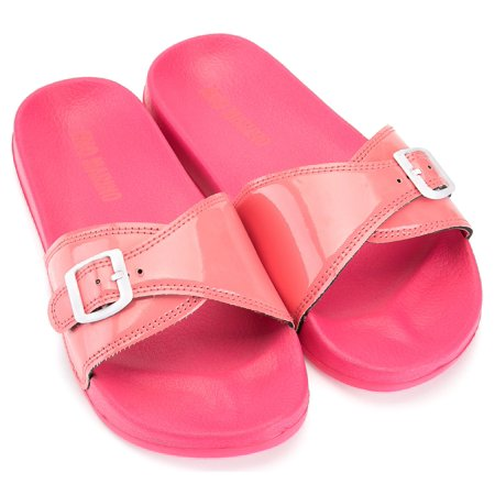ce97888c7 Mio Marino Adjustable Women Slides - Beach Sandals for Women - House  Slippers