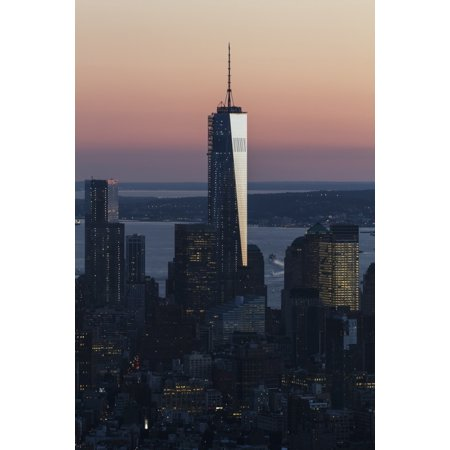 One World Trade Center as seen from the Empire State Building New York City New York United States Canvas Art - Peter Langer  Design Pics (12 x 19)