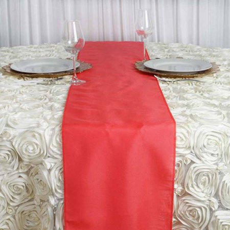 Efavormart Premium Polyester Table Top Runner For Weddings Birthday Party Banquets Decor Fit Rectangle and Round Table](Red Christmas Table Runner)
