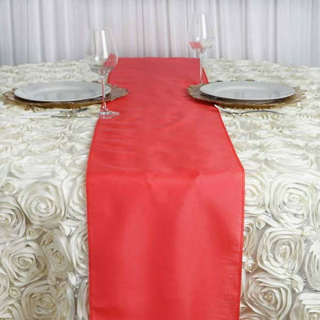 Efavormart Premium Polyester Table Top Runner For Weddings Birthday Party Banquets Decor Fit Rectangle and Round -