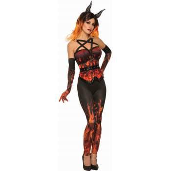 Womens Devil CorHalloween Costume Set
