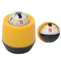 Mgaxyff Outdoor Compass, Car Compass,PVC Portable Vehicle Car 360Rotating Compass Guide Ball Outdoor Navigation Tools