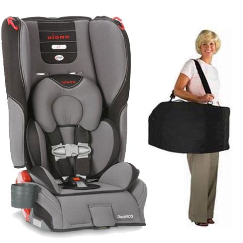 Diono - Pacifica Convertible   Booster Car Seat with Carry Case - Graphite