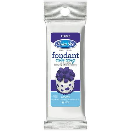 Satin Ice Packaged Fondant 4oz Purple Vanilla
