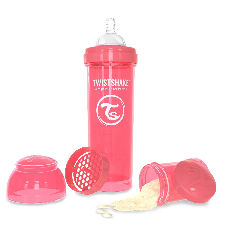 Twistshake Anti-Colic Baby Bottle & Accessories 330ml 11oz Peach Dreamcatcher by Twistshake