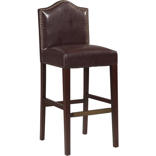 Linon Manor Bar Stool Blackberry Color 30 Inch Seat