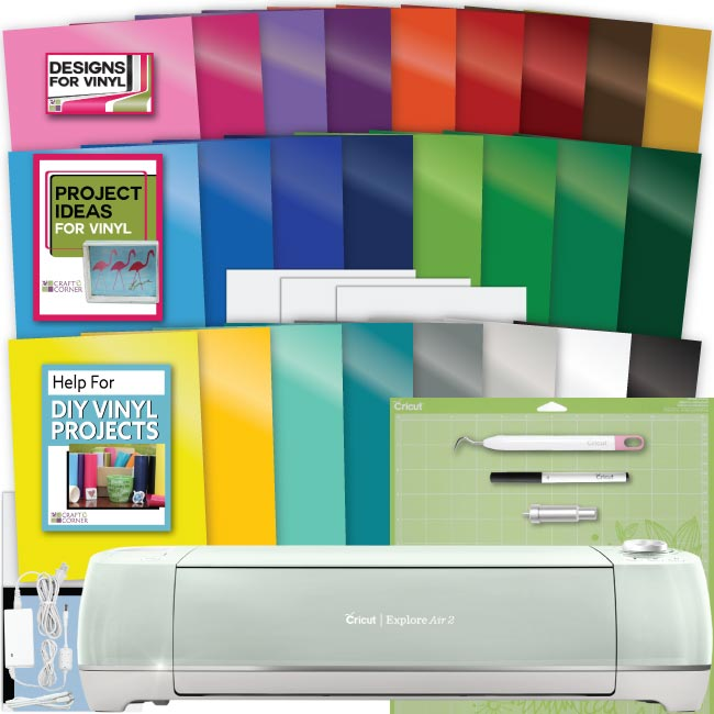 Cricut Explore Air 2 Machine Bundle Large Vinyl Pack Tool Guide Designs Ideas