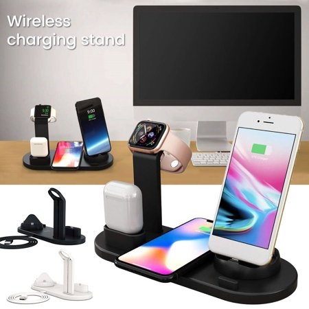 3in1Qi Fast Wireless Charging Dock Stand Station for Apple Watch Airpods iPhone Wireless Docking Station