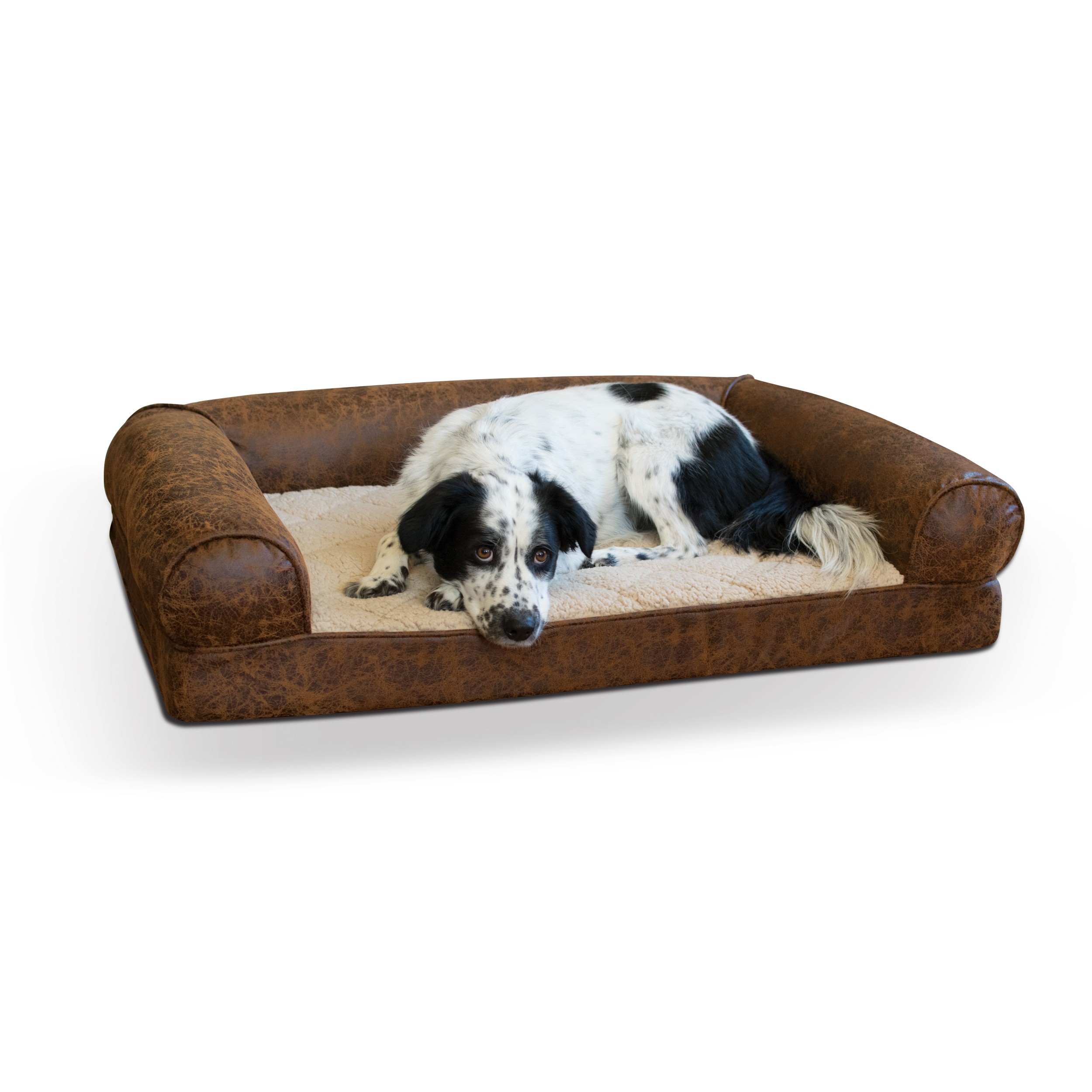 """K&H Pet Products Bomber Memory Dog Sofa Large Brown 30"""" x 41"""" x 9"""""""