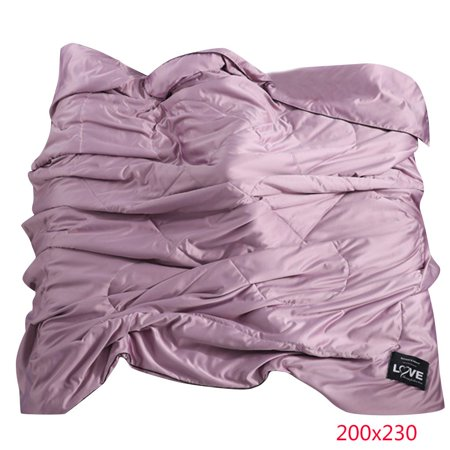 Electronicheart Summer Super Soft Polyester Duvet Comforter Solid Color Air Conditioning Quilt Cover Bedding Seamless Breathable - image 1 of 4