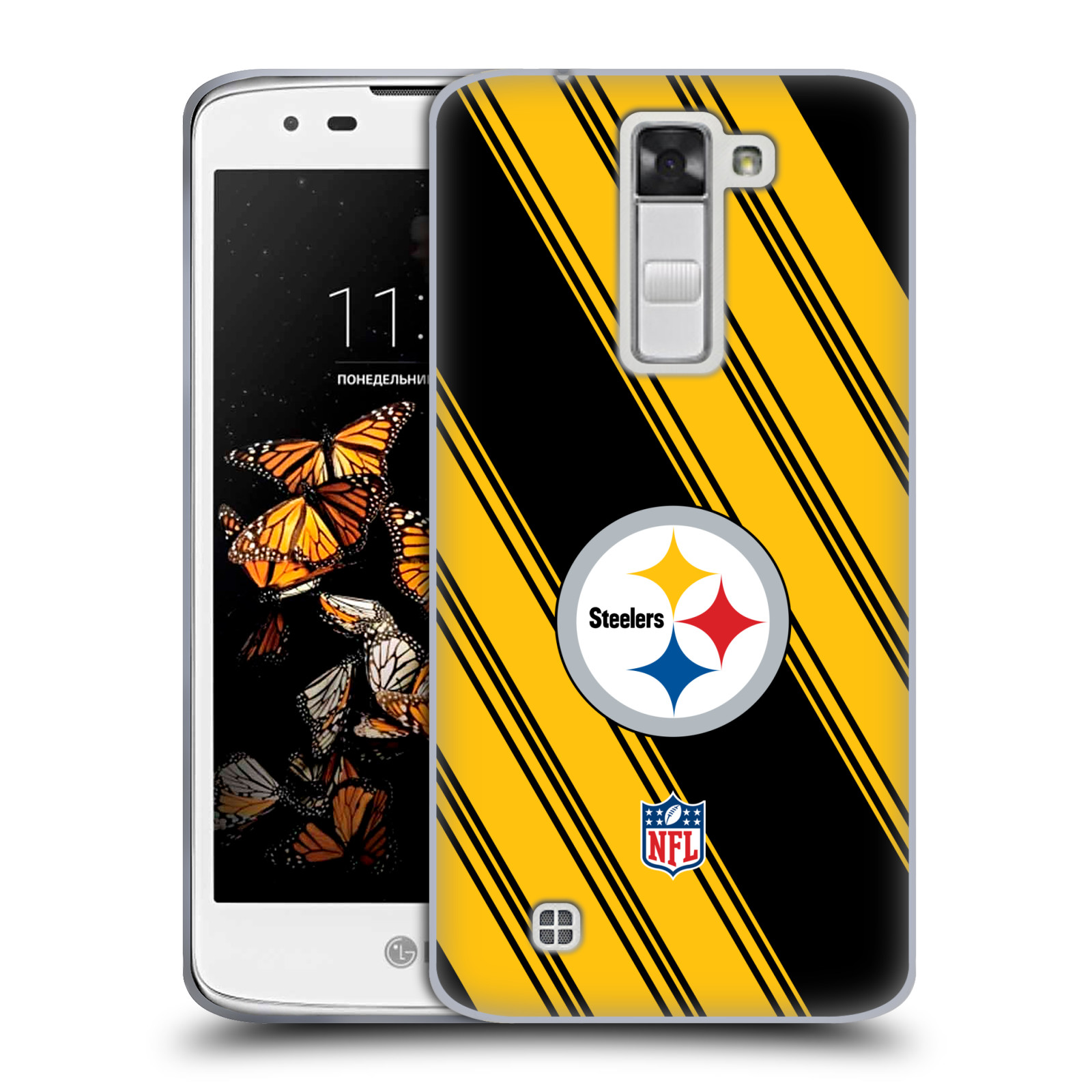 OFFICIAL NFL 2017/18 PITTSBURGH STEELERS SOFT GEL CASE FOR LG PHONES 2