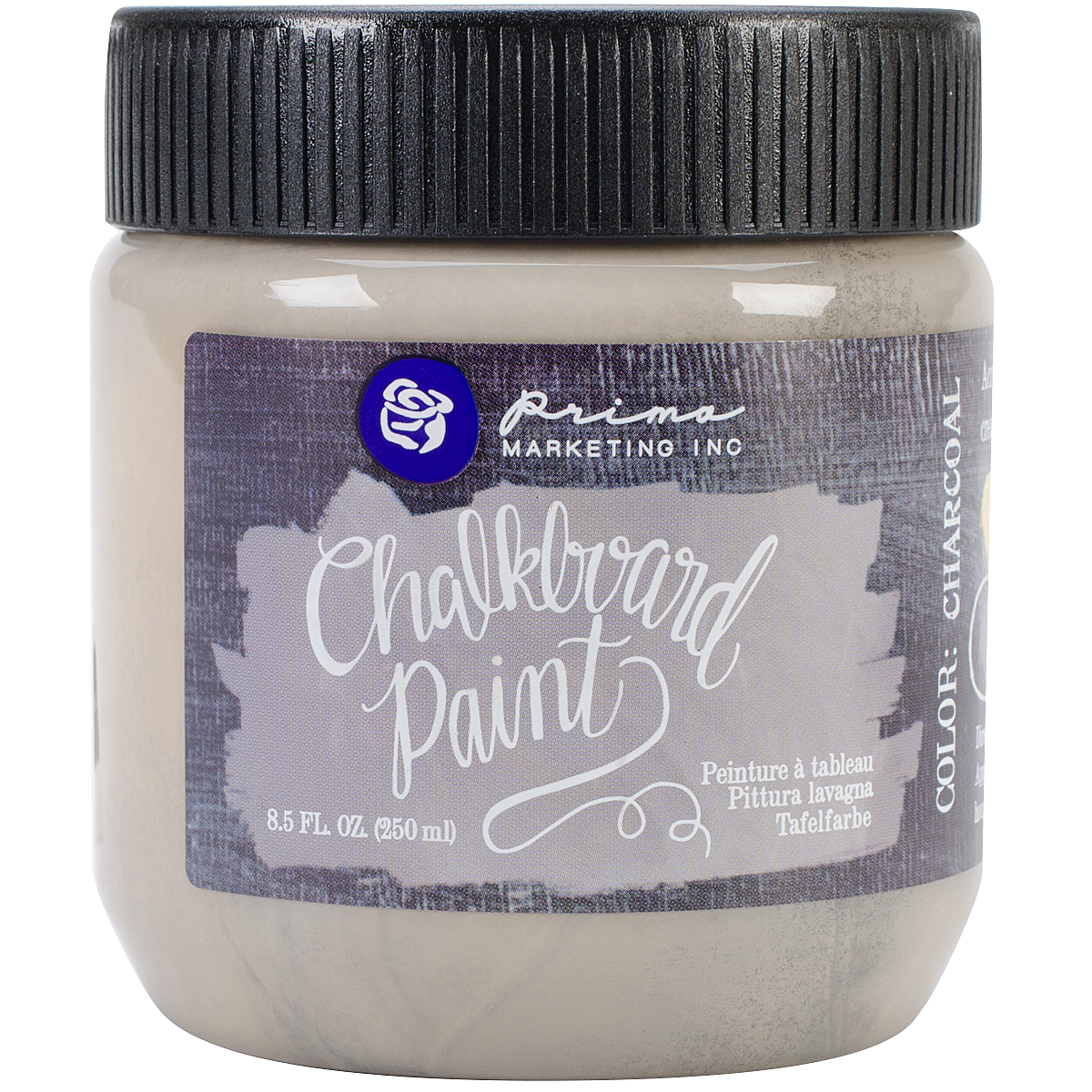 Prima Marketing Chalkboard Paint, 8.5-Ounce, Charcoal Multi-Colored