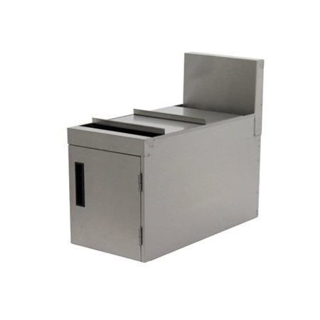 Advance Tabco Prestige Series High Stainless Steel Multi Compartment Trash And Recycling Bin